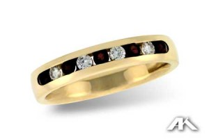 Ruby and Diamond Ring, Wedding, Engagement, and Anniversary Rings