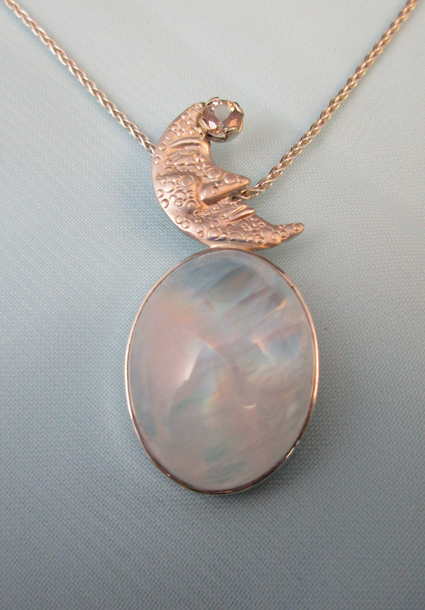 products stone pendant moon sterling silver rm jewelry moonstone bjp a brillante rainbow pure