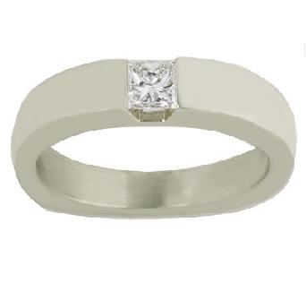 Gents Princess Cut Diamond Ring - Special Order Only