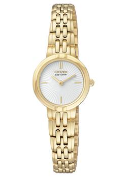 White Face Gold-Tone Ladies Watch