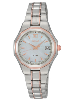 Two-tone Rose Plated & Mother of Pearl Ladies Watch