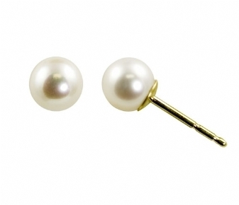 White Pearl Post Earrings 7mm
