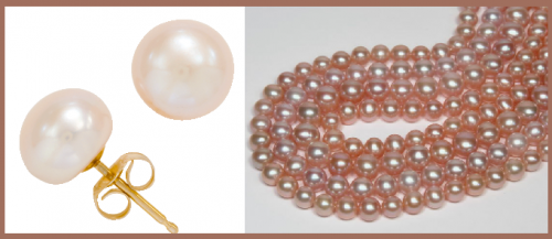 Allspice: Button Pearl Earrings