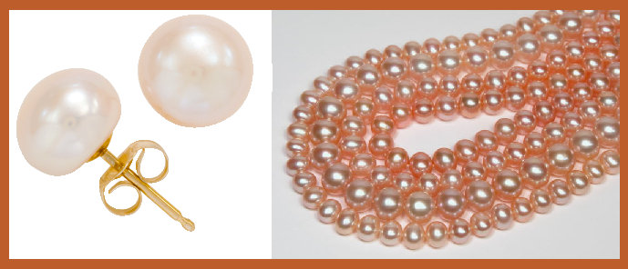 Cinnamon: Button Pearl Earrings - Special Order
