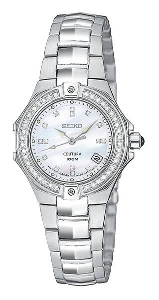 Coutura Mother-of-Pearl Ladies Diamond Watch