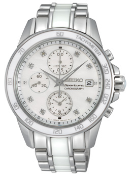 Sportura White & Diamond Ladies Watch