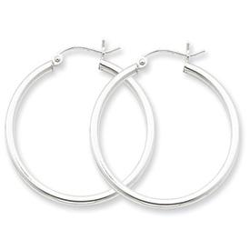Simple Silver Hoops