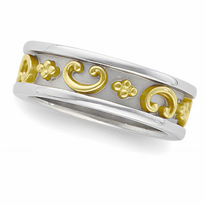 Etruscan Style Two-tone Band
