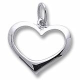 Open Heart Charm/Pendant