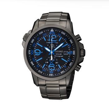 Chronograph Solar Black Seiko Watch
