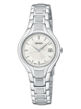 Ladies Silver Face Watch