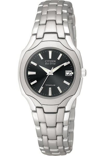 Titanium Ladies Pewter Faced Watch