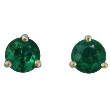 Emerald Post Earrings
