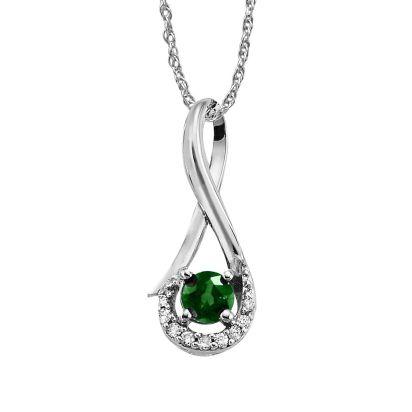 Emerald Halo Infinity Pendant